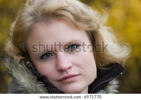 nice portrait of attractive woman