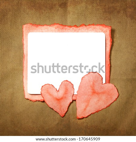 Nice postcard for Valentine`s day! - stock photo