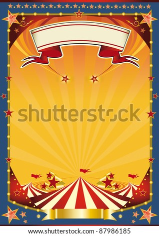 Nice poster with big top. A new poster circus for your show - stock photo