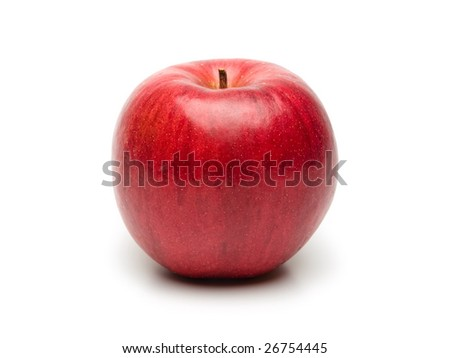 Nice red apple isolated on pure white.