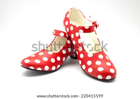 nice red shoes to dance