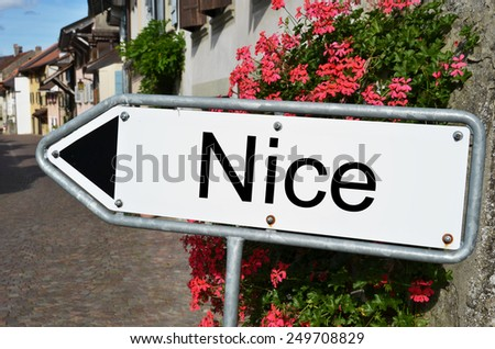 Nice road sign - stock photo