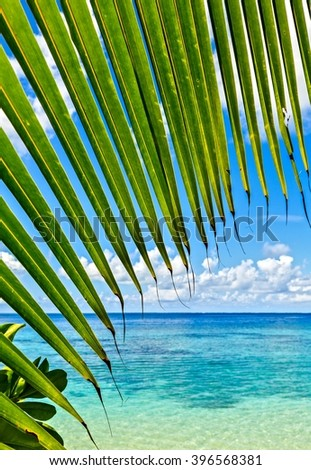 Nice seascape view, Maldives, the Indian Ocean - stock photo