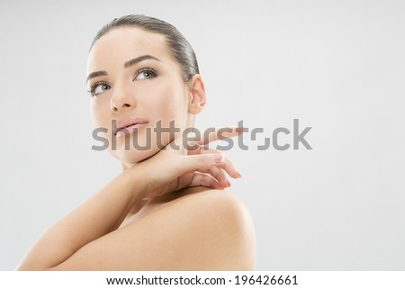 Nice, sensual woman beauty - stock photo