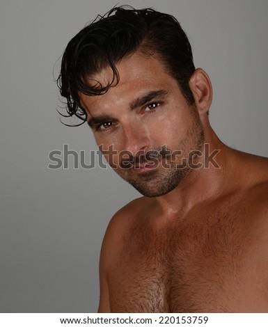 Nice sexy Image of a Handsome Italian man - stock photo