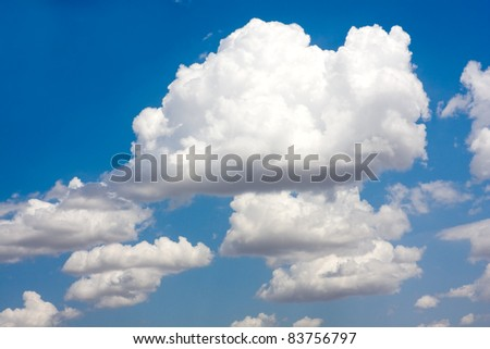nice sky with white clouds - stock photo