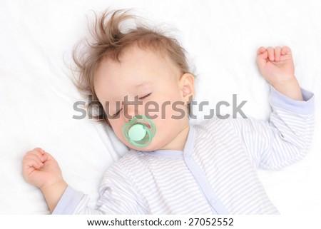 nice sleeping baby - stock photo