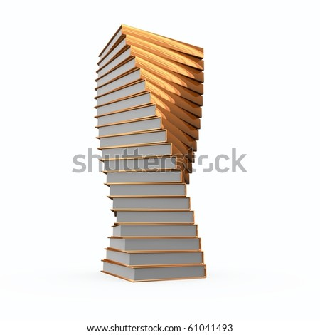 Nice spiral of bronze cover books looks like trophy