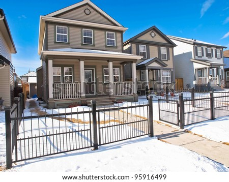 Nice Suburb home in North America - stock photo