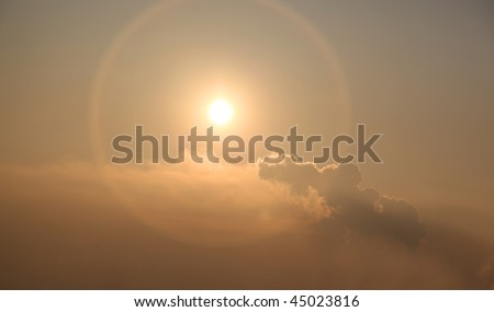 nice sunset - stock photo