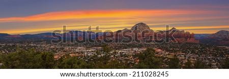 Nice Sunset Image of Sedona; Arizona. - stock photo