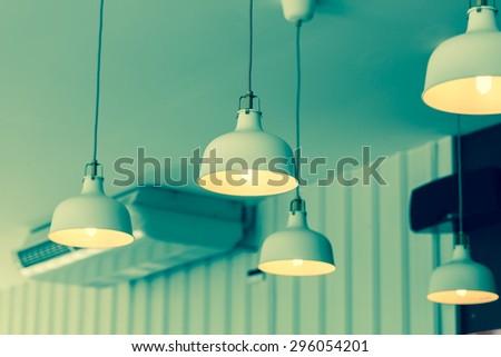 nice tall floor lamp - stock photo