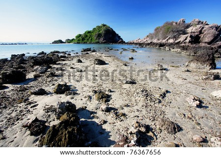Nice Tranquil Beach, Southern Thailand - stock photo
