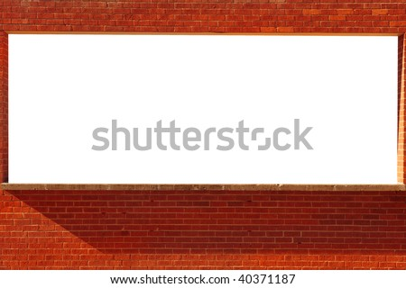 Nice use-able Image of a Actual Brick Window with Copy-Space - stock photo