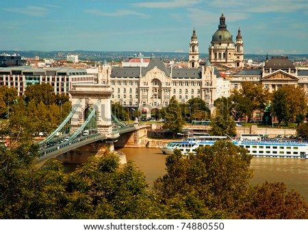 Nice view of Budapest, Hungary - stock photo