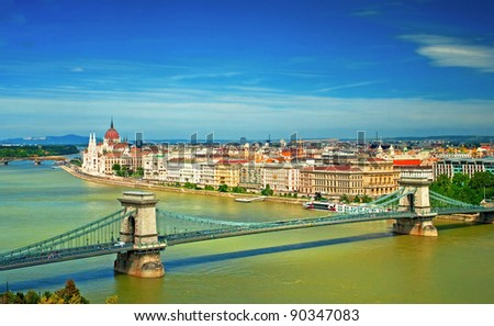 Nice view on Budapest, Hungary - stock photo