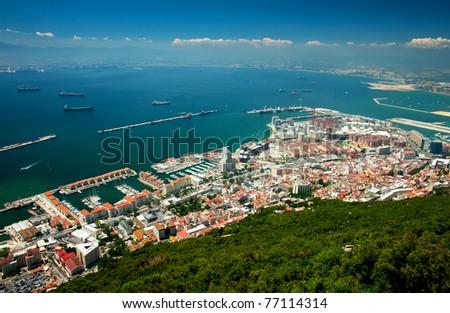 Nice view on Gibraltar - stock photo