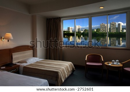 Nice view out the window - stock photo