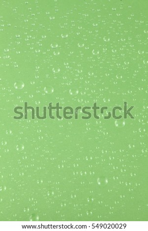 nice water drops- green background