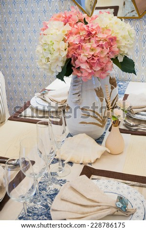 nice wineglass,tableware on dining table