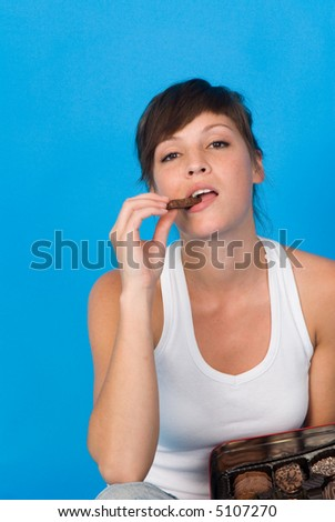 nice woman - stock photo