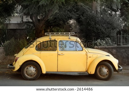 Nice yellow mobile - stock photo