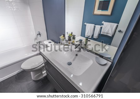 Nice home stock images royalty free images vectors - Nicely decorated bathrooms ...