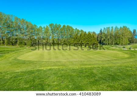Nicely trimmed gorgeous golf course.