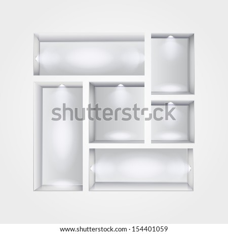 niche gallery interior - stock photo