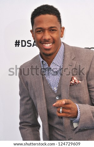 Nick Cannon at the 2012 Do Something Awards at Barker Hangar. Santa Monica Airport. August 19, 2012  Santa Monica, CA Picture: Paul Smith - stock photo