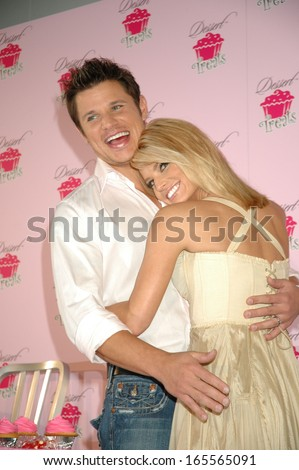 Nick Lachey, Jessica Simpson at the press conference for launch of Jessica Simpson Dessert Treats beauty line, Industria, New York, NY, February 09, 2005  - stock photo