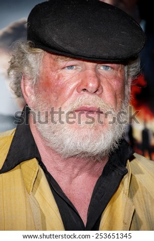 "Nick Nolte at the Los Angeles premiere of ""Gangster Squad"" held at the Grauman's Chinese Theatre in Los Angeles, California, United States on January 7, 2013. - stock photo"