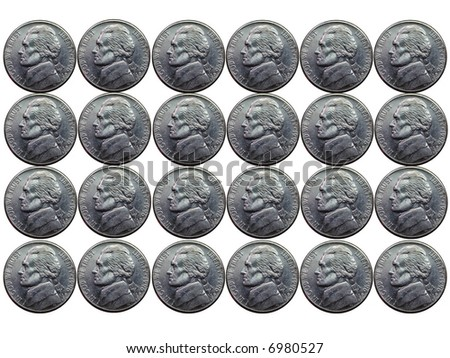 Nickels - stock photo