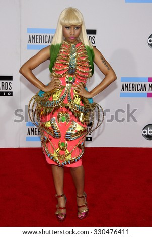 Nicki Minaj at the 2010 American Music Awards held at Nokia Theatre L.A. Live in Los Angeles, USA on November 21, 2010. - stock photo