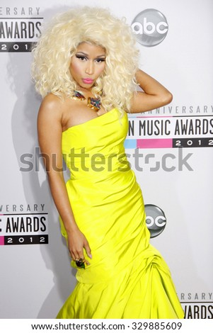 Nicki Minaj at the 2012 American Music Awards held at the Nokia Theatre L.A. Live in Los Angeles, USA on November 18, 2012. - stock photo
