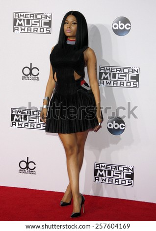 Nicki Minaj at the 2014 American Music Awards held at the Nokia Theatre L.A. Live in Los Angeles on November 23, 2014 in Los Angeles, California.  - stock photo