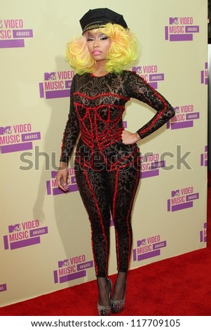 Nicki Minaj at the 2012 Video Music Awards Arrivals, Staples Center, Los Angeles, CA 09-06-12 - stock photo