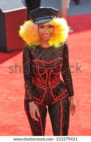 Nicky Minaj at the 2012 MTV Video Music Awards at Staples Center, Los Angeles. September 6, 2012  Los Angeles, CA Picture: Paul Smith - stock photo