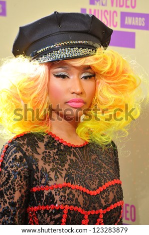 Nicky Minaj at the 2012 MTV Video Music Awards at Staples Center, Los Angeles. September 6, 2012  Los Angeles, CA Picture: Paul Smith / Featureflash - stock photo