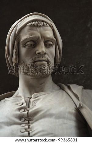 Nicola Pisano. Statue outside the Uffizi, Florence, Italy. - stock photo