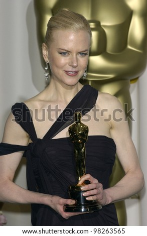 NICOLE KIDMAN at the 75th Academy Awards at the Kodak Theatre, Hollywood, California. March 23, 2003 - stock photo