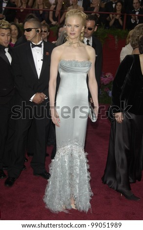 NICOLE KIDMAN at the 76th Annual Academy Awards in Hollywood. February 29, 2004 - stock photo