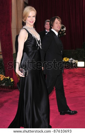 Nicole Kidman & Keith Urban at the 80th Annual Academy Awards at the Kodak Theatre, Hollywood, CA. February 24, 2008 Los Angeles, CA Picture: Paul Smith / Featureflash