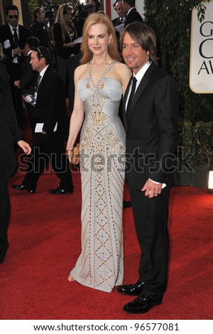 Nicole Kidman & Keith Urban at the 69th Golden Globe Awards at the Beverly Hilton Hotel. January 15, 2012  Beverly Hills, CA Picture: Paul Smith / Featureflash