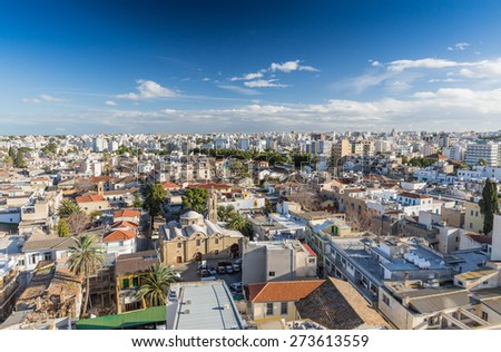 Nicosia City View - The Capital of Cyprus and Northern Part - stock photo