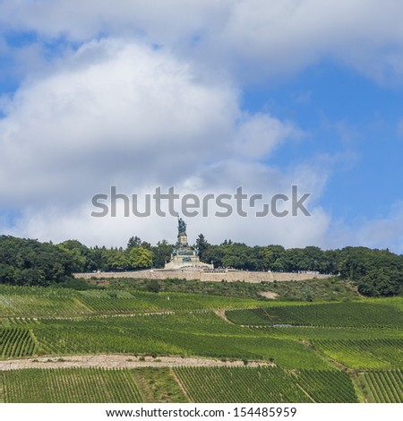 Niederwald memorial at Ruedesheim - stock photo