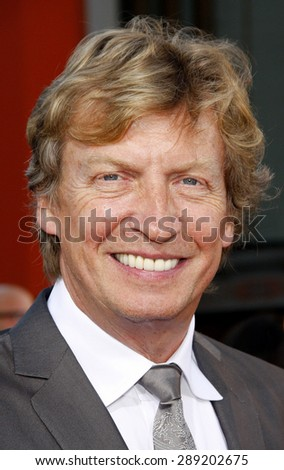 Nigel Lythgoe at the Los Angeles premiere of 'Step Up Revolution' held at the Grauman's Chinese Theatre in Hollywood on July 17, 2012.  - stock photo