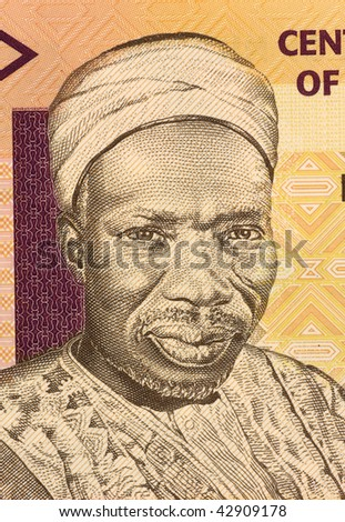 NIGERIA - CIRCA 2006: Sir Abubakar Tafawa Balewa on 5 Naira 2006 Banknote from Nigeria. First prime minister of independent Nigeria.