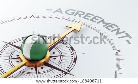 Nigeria  High Resolution Agreement Concept - stock photo