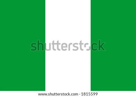 Nigeria national flag, Africa - stock photo